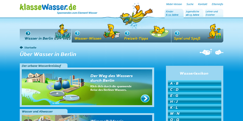 Klassewasser Website